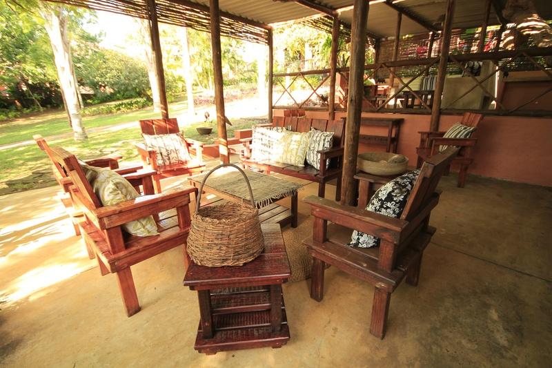 Lidiko Lodge st lucia patio area
