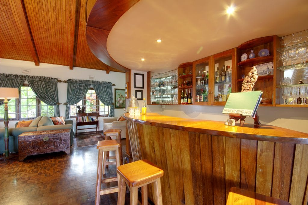 st lucia wetlands guest house bar area