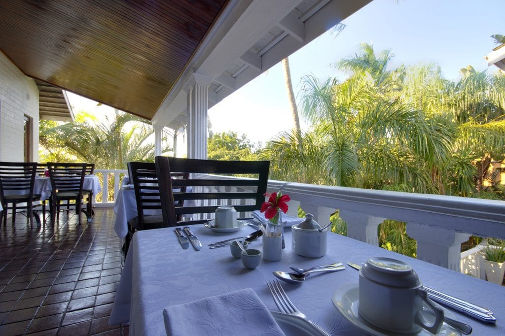st lucia wetlands guest house outside dinning