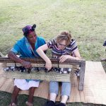 teaching zulu mat weaving