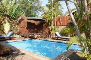 bhangazi lodge st lucia pool area