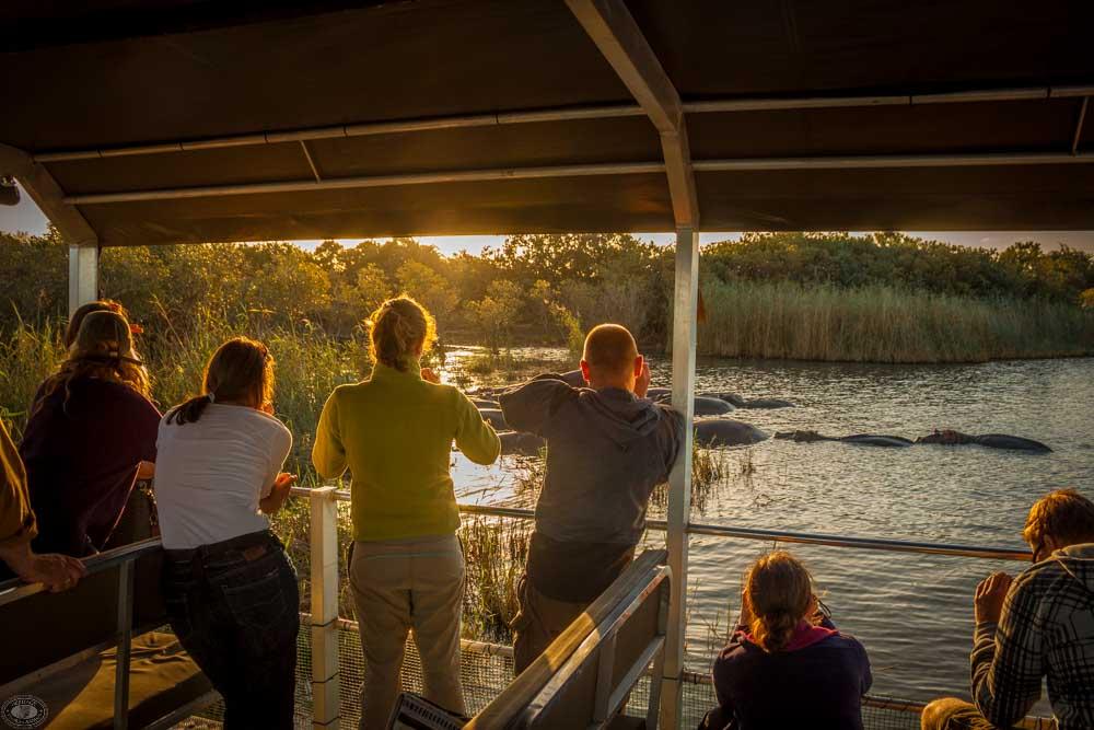 sunset hippo cruise st lucia