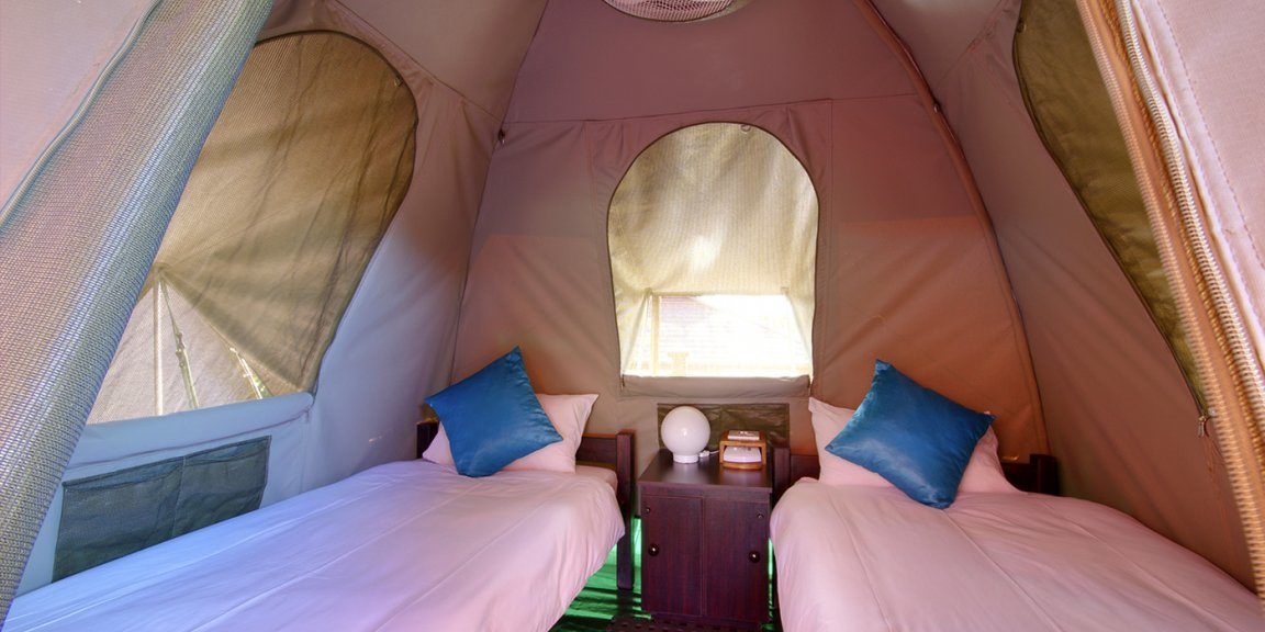 budget tents at urban glamping st lucia