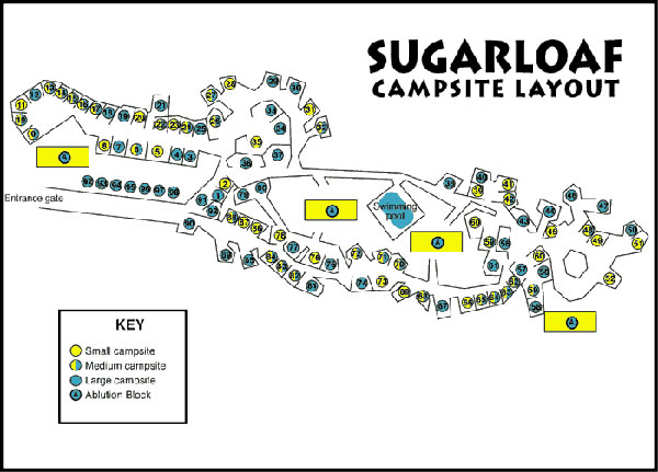 sugraloaf campsite layout map