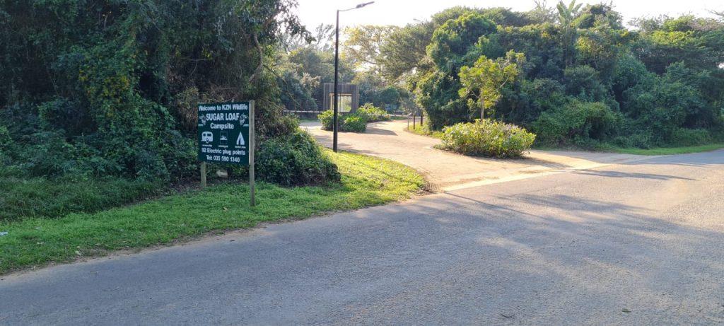 sugar loaf caravan park sign st lucia